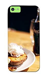 Cvygrl-5910-ntzbccg Awesome Cola Bacon Breakfast Flip Case With Fashion Design For Iphone 5c As New Year's Day's Gift