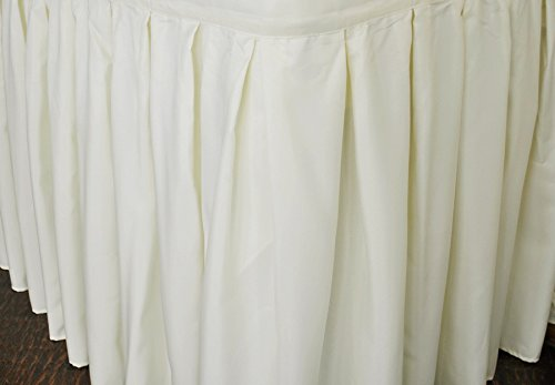 - Wedding Linens Inc. Accordion Pleat Polyester Table Skirt for Wedding Party Banquet Events (17 ft. x 29-inch, Ivory)
