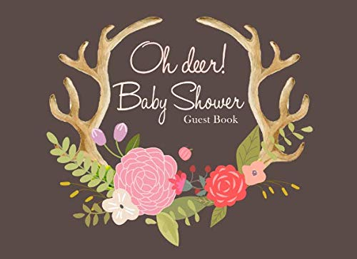 Oh Deer Baby Shower Guest Book: Brown Rustic Advice for Parents and Gift Log