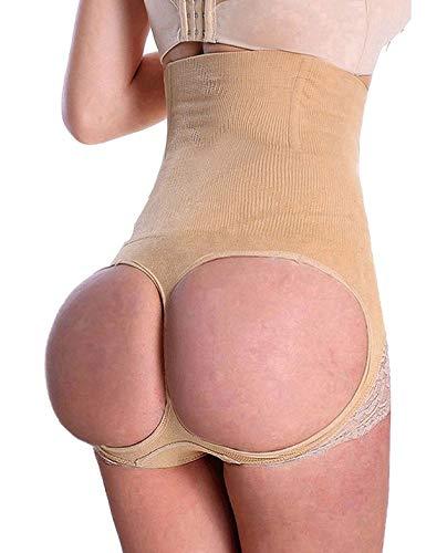 SAYFUT Women's Butt Lifter Shaper Seamless Tummy Control Hi-waist Thigh Slimmer,XL/2XL(Waist 30