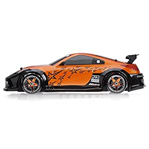 1/10 Scale Exceed RC MadSpeed Electric Powered Drift Car 350 Style Orange
