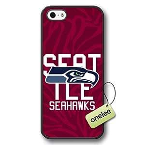 NFL Seattle Seahawks Team Logo iPhone 5/5s Black Hard Plastic Case Cover - Black 1