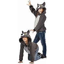 Kids Willie the Wolf Funsie Hoodie
