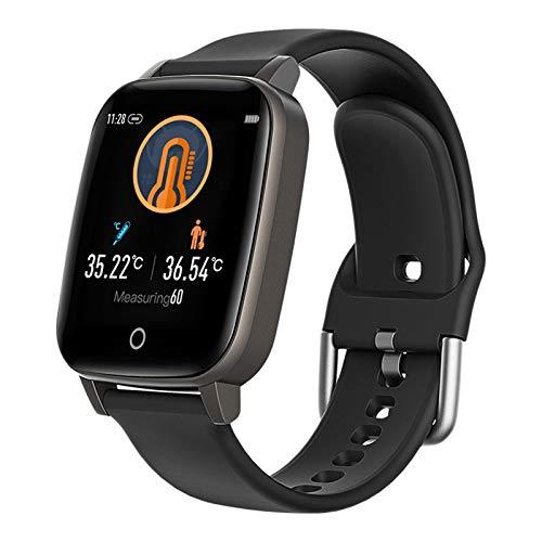 Smartwatch, 1.30 kleurenscherm, waterdicht horloge met lichaamstemperatuur, hartslag, slaapmonitoring, meerdere…