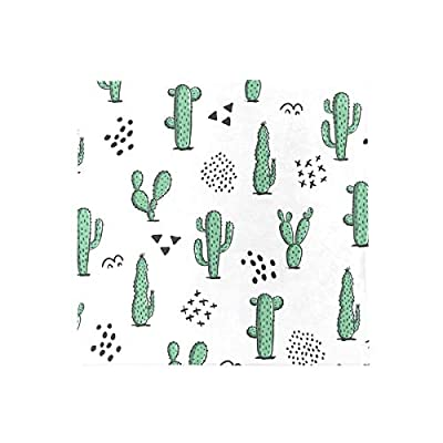 Bardic FICOO Home Patio Chair Cushion Cacti Cactus Pattern Square Cushion Non-Slip Memory Foam Outdoor Seat Cushion, 16x16 Inch: Home & Kitchen