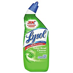 LYSOL Brand REC 75055 RAC75055CT Disinfectant Toilet Bowl Cleaner with Bleach, Liquid, 24 oz. Bottle (Pack of 12)