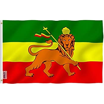 Amazon New Ethiopia 3x5 Flag With Lion 3 X 5 Ethiopian Banner