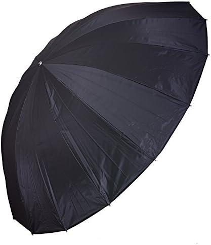 CowboyStudio Professional Strobe Speedlight Flash Reflector Silver Black Reflective Parabolic Umbrella 57 inch