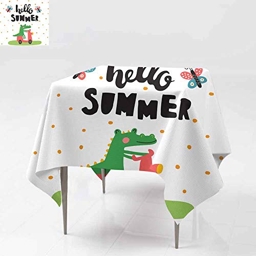 Croco Overlay - Fbdace Waterproof Table Cover,Summer Croco Party Decorations Table Cover Cloth 50x50 Inch