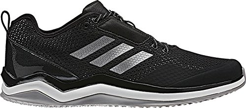 adidas Men's Speed Trainer 3.0 Shoes, Black/Metallic Silver/White, (11.5 Medium (Low Softball Shoe)