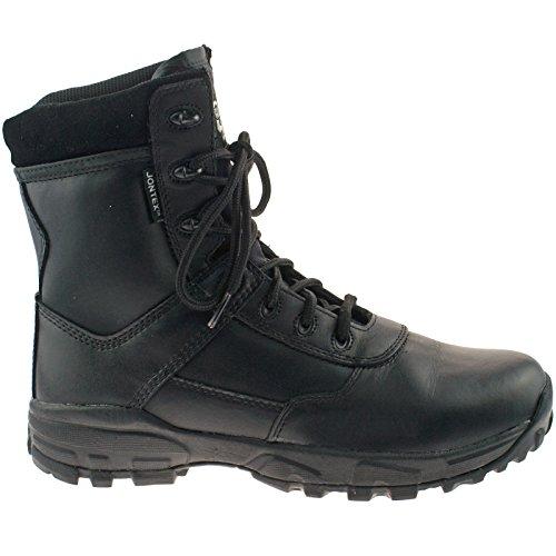 GraftersAMBUSH - Botas Militar hombre Black Leather/Coated Action Leather