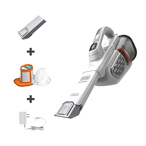 BLACK+DECKER Dustbuster AdvancedClean+ Handheld Vacuum (HHVK320J10), White