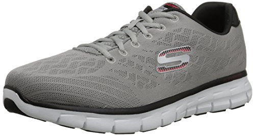 SkechersSynergy Fine-Tune - Sneaker Uomo Light Gray/Black