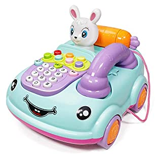 Telephone Toy For 3-12 Month Baby, Toy Phone Gift 1-3 Year Old Baby Boy Girl Retro Toys For 6-18 Months Girl Kid Children Toy Gift 9-24 Months Toddlers Boy Phone Toy Age 1 2 3 Birthday Gift Babies