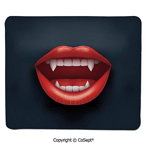 Gaming Mouse Pad,Graphic Vivid Mouth with Fangs Open