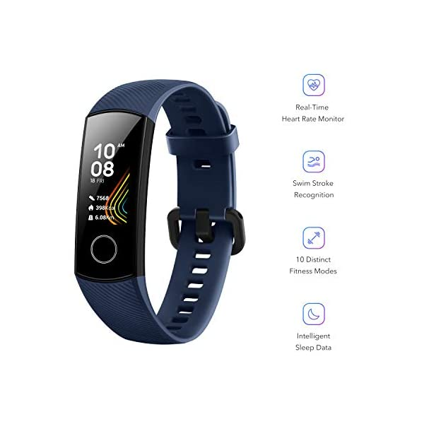 HONOR Band 5 (MidnightNavy)- Waterproof Full Color AMOLED Touchscreen, SpO2 (Blood Oxygen), Music Control, Watch Faces Store, up to 14 Day Battery Life 6