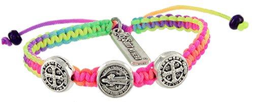 My Saint My Hero Benedictine Blessing Bracelet for Kids - Purple (Rainbow) -