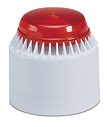 (Federal Signal LP7-18-30R Streamline Low Profile Combination Sounder/Strobe, 18-30 VDC, Red)