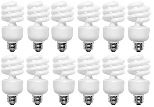 100 Watt CFL Spiral, 12 Pack, Soft White (2700K) Light Bulbs