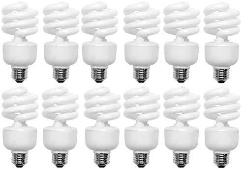 - 100 Watt CFL Spiral, 12 Pack, Soft White (2700K) Light Bulbs