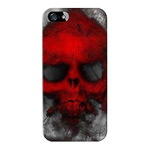 Cráneo Rojo Ghost Full Wrap Case, para iPhone 5/5S Impreso en 3d de alta calidad de Fernando Garza