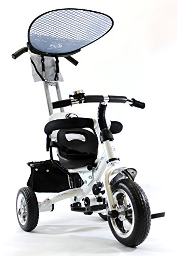 4in1 Lexx Trike Classic Smart Kid's Tricycle 3 Wheel Bike Removable Handle & Canopy NEW WHITE by Lexx Trike