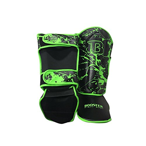 Kinder Shin Guards Muay Thai Gr/ö/ße S Booster Schienbeinschoner MMA green-marble