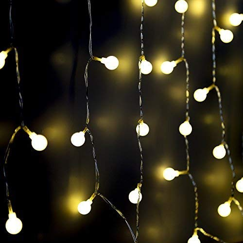 Fairy String Lights Battery Operated, 8 Mode Chains 40LEDs Small Ball Lights for Christmas Party Wedding Decoration (Warm White)