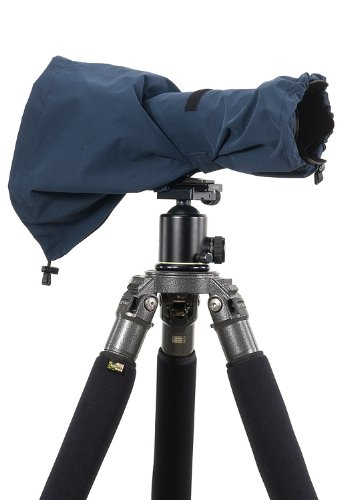 LensCoat RainCoat RS for Camera and Lens, Medium Rain cover sleeve protection  (Navy) LCRSMNA