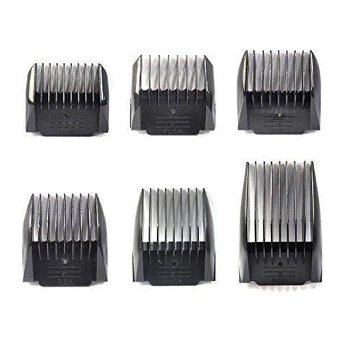 Panasonic Hair Clipper Guide Comb Attachment Set, 6 Pieces, Fits Er1611, Er1511, Er154, Er153, Er150, Etc ()