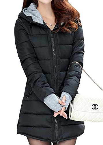 SWORLD Warmest Winter Coats For Women Candy Colors Down Coat With Hood