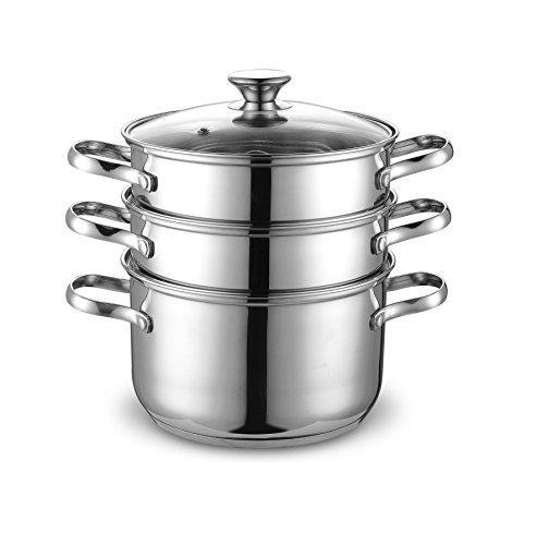 Cook N Home NC-00313 4QT(20CM) Double Boiler and Steamer Set, Stainless Steel (Double Boiler In Stainless Steel compare prices)