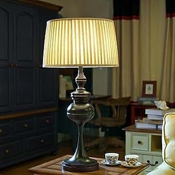 GYB American Country Style lámpara de mesa, una luz, de acero y Tela (BULISIBEN123) , 220-240V