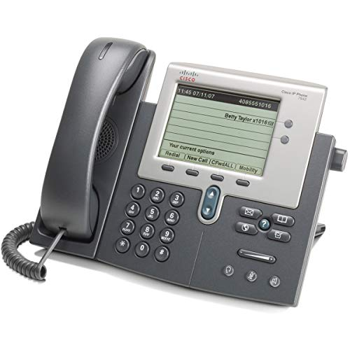 Cisco CP-7942G Unified IP Phone SCCP PoE (Renewed) ()