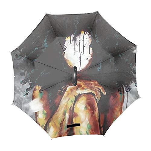 I2 Shaft - Reverse Sun&Rain Car Umbrella Nturlly I Windproof Travel UV Umbrella - Auto Open Close