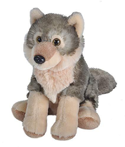 Wild Republic Wolf Plush, Stuffed Animal, Plush Toy, Gifts for Kids, Cuddlekins, 8 Inches ()