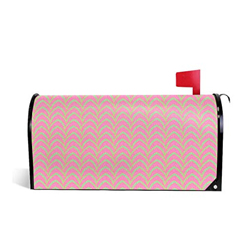Mailbox Covers Standard Size Magnetic Mail Cover Flying Stripe Pastel Parasol Wraps Letter Post Box Cover 21