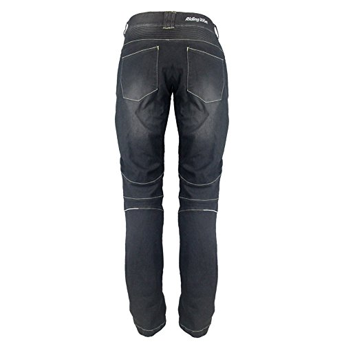 Riding Tribe Motorcycle Pant Biker Jeans Motorbike Racing Trousers with 4Pcs Removable Protective Pads by Riding Tribe