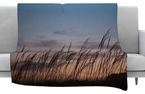 40 x 30 Fleece Blanket Kess InHouse Catherine McDonald Sunset on The Beach Throw