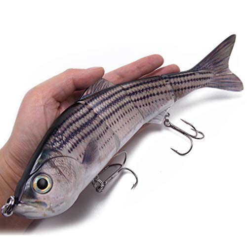 CATCHSIF 1PK 10inch Saltwater Striped bass swimbait Fishing Lures