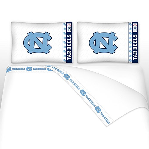 NCAA North Carolina Tar Heels Micro Fiber Sheet Set (Full) ()