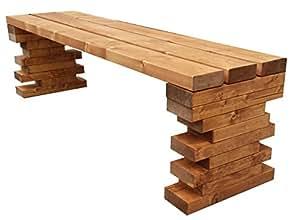 Al aire libre jardín banco de madera 200x 38,5x 40cm también Costum hecho.