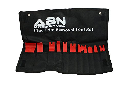 ABN Premium Auto Trim Removal Tool Kit - 11 Piece Pry Bar Set , Fastener Remover, No Scratch Trim Removal Set