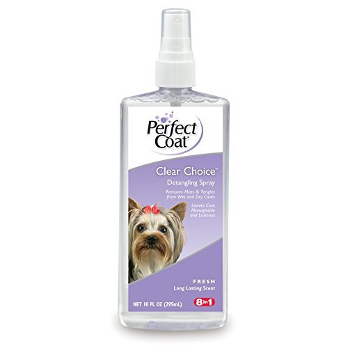 (Perfect Coat Clear Choice Detangling Spray, 10-Ounce (I603) by Eight in one)