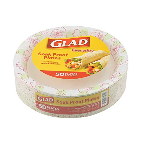 """Glad Round Disposable Paper Plates for All Occasions 
