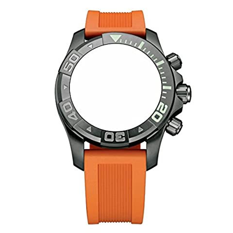 Victorinox Swiss Army Dive Master 500 Orange Genuine Rubber Strap Diver Watch Band 20mm (Mens Swiss Army Watch Diver 500)