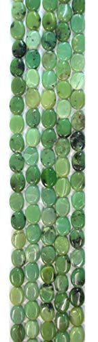 Chrysoprase (China) 8x10mm Oval Beads, 16in Strands ()