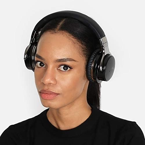 SEVIZ 10 Wireless Bluetooth Headphones, 30 Hours, The Best Sound and Powerful bass, Noise canceling, Ear-Friendly earpads, Foldable, Built-in Microphone, Stereo Headphones, Black