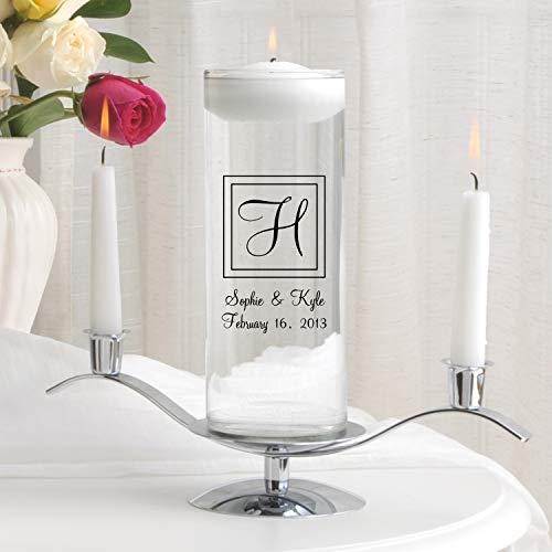 Personalized Floating Wedding Unity Candle Set - Includes Stand - Personalized Wedding Candle Set - Monogrammed Floating Wedding Unity Candle Set - Elegant -