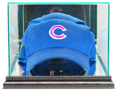 MLB Cap/Hat Glass Display Case, Black - Mlb Baseball Cap Display Case